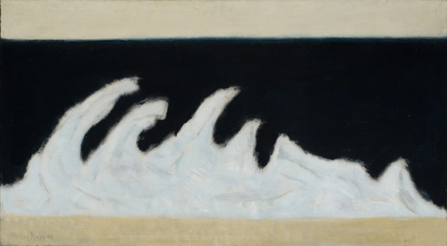 Milton Avery (1893–1965), Jagged Wave, 1954. Oil on canvas, 30 x 54 in. (76.2 x 137.2 cm). Grey Art Gallery, New York University Art Collection. Gift of the artist, 1961.35. © Milton Avery Trust. Artists Rights Society (ARS), New York