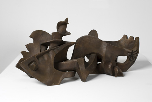 Seymour Lipton (1903–1986), Argosy, 1948. Bronze, 12 1/2 x 28 x 11 1/2 in. (31.8 x 71.1 x 29.2 cm). Grey Art Gallery, New York University Art Collection. Anonymous gift, 1966.33. © The Estate of Seymour Lipton. Courtesy Michael Rosenfeld Gallery, LLC, New York, NY
