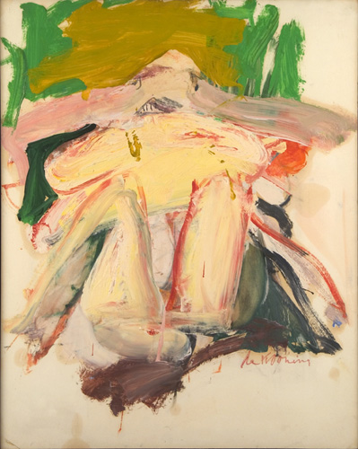 Willem de Kooning (1904–1997), Woman with a Green and Beige Background, 1966. Oil on paper mounted on masonite, 28 1/2 x 23 3/4 in. (72.4 x 57.8 cm). Grey Art Gallery, New York University Art Collection. Gift of Longview Foundation, 1973.33. © 2007 The Willem de Kooning Foundation. Artists Rights Society (ARS), New York