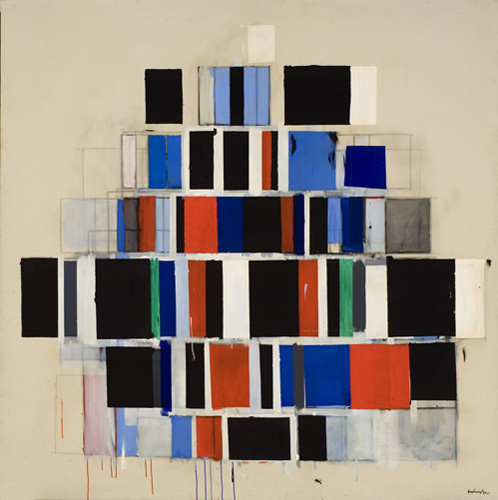 Robert Goodnough, Large Rectangles Large, 1964–65. Oil and acrylic on canvas, 78 x 78 in. (198.1 x 198.1 cm). Grey Art Gallery, New York University Art Collection. Anonymous gift, 1969.76. © Robert Goodnough