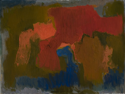 Esteban Vicente (1903–2001), Untitled No. 5, 1961. Oil on canvas, 36 x 48 in. (91.4 x 121.9 cm). Grey Art Gallery, New York University Art Collection. Gift of Bernard Reis, 1965.41. © Estate of Esteban Vicente. Courtesy Museo Esteban Vicente