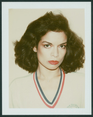 Andy Warhol. Bianca Jagger, 1979. Polacolor Type 108, 4 1/4 x 3 3/8 in. Grey Art Gallery, New York University Art Collection. Gift of The Andy Warhol Foundation for the Visual Arts