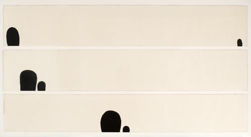 James Lee Byars (1932–1997), Untitled, 1959. Ink on paper, 12 x 17 1/2 in. (30.5 x 44.5 cm) each. Grey Art Gallery, New York University Art Collection. Gift of Philip Johnson, 1969.15. © Estate of James Lee Byars. Courtesy Michael Werner Gallery