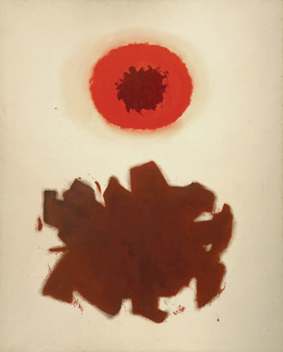 Adolph Gottlieb (1903–1974), Circular, 1960. Oil on canvas, 90 x 72 in. (228.6 x 182.9 cm). Grey Art Gallery, New York University Art Collection. Anonymous gift, 1966.28. © Adolph and Esther Gottlieb Foundation. Licensed by VAGA, New York, NY
