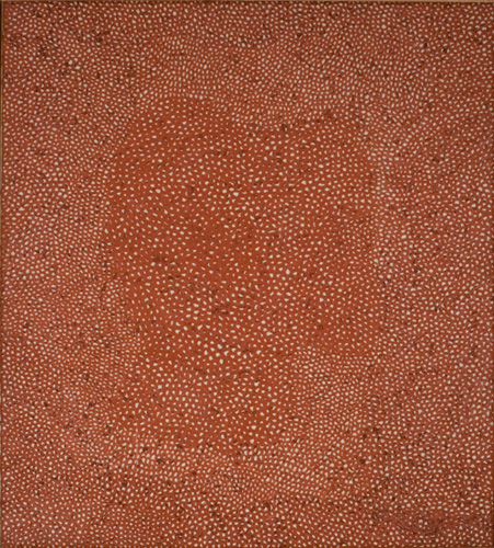 Yayoi Kusama (born 1929), No. Red A, 1960. Oil on canvas, 71 x 63 in. (180.3 x 160 cm). Grey Art Gallery, New York University Art Collection. Gift of Silvia Pizitz, 1962.33. © Yayoi Kusama