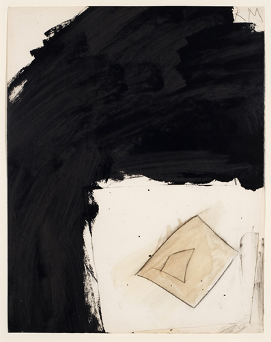 Robert Motherwell (1915–1991), Untitled, 1958. Mixed media collage on paper, 14 1/4 x 11 1/4 in. (36.2 x 28.6 cm). Grey Art Gallery, New York University Art Collection. Anonymous gift, 1964.60. © Dedalus Foundation, Inc. Licensed by VAGA, New York, NY