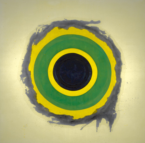 Kenneth Noland (born 1924), Spread, 1958. Oil on canvas, 117 x 117 in. (297.2 x 297.2 cm). Grey Art Gallery, New York University Art Collection. Gift of William S. Rubin, 1964.20. © Kenneth Noland. Licensed by VAGA, New York, NY