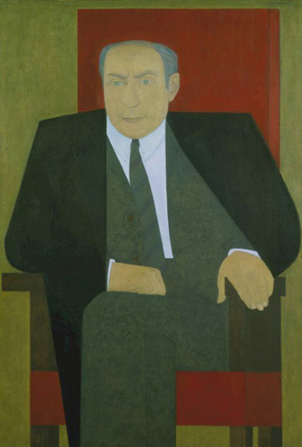 Will Barnet (born 1911), Portrait of RRN, 1965. Oil on canvas, 67 x 43 in. (170.2 x 109.2 cm). Grey Art Gallery, New York University Art Collection. Gift of Roy Neuberger, 1966.13. © Will Barnet. Licensed by VAGA, New York, NY