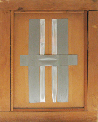 Chryssa (born 1933), Letter H, 1959. Wood, paperboard, and electrician's tape, 17 3/8 x 13 3/4 x 3 1/2 in. (44.1 x 34.9 x 8.9 cm). Grey Art Gallery, New York University Art Collection. Gift of Mr. and Mrs. Alexander Liberman, 1979.57