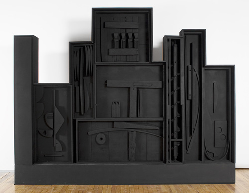 Louise Nevelson (1899–1998), The Tropical Gardens, 1957. Painted wood construction, 99 x 133 1/8 x 9 in. (251.5 x 338.1 x 22.9 cm). Grey Art Gallery, New York University Art Collection. Gift of Governor Nelson Rockefeller and the artist, 1960.72. © Estate of Louise Nevelson. Artists Rights Society (ARS), New York