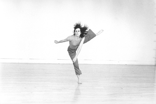 Robert Alexander, Documentation of Trisha Brown performing Water Motor, 1979. Gelatin silver prints, 11 x 14 in. Robert Alexander Papers