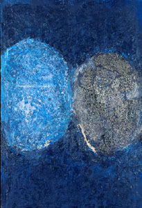 Siah Armajani (born 1939) Prayer for the Sun, 1962 Oil on canvas Grey Art Gallery, New York University Art Collection. Gift of Abby Weed Grey