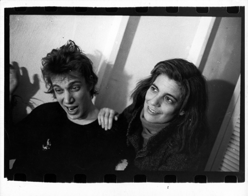 Roberta Bayley, Richard Hell and Susan Sontag, 1978. Gelatin silver print, 8 x 10 in. Richard Hell Papers