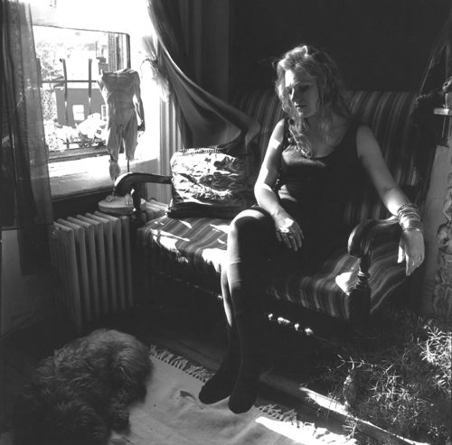 Kate Simon, Cookie Mueller, Writer, 1989. Gelatin silver print, 10 x 8 in. Ira Silverberg Papers