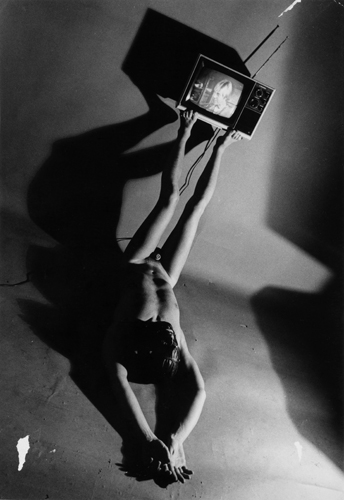 Jimmy De Sana Television, from the series Submission, 1977–78 Gelatin silver print, 10 x 7 in. Jimmy De Sana Papers