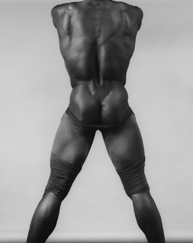Robert Mapplethorpe, Derrick Cross, 1983. Gelatin silver print, 20 x 16 in. Grey Art Gallery and Fales Library, New York University Art Collection. Gift of Robert Mapplethorpe Foundation