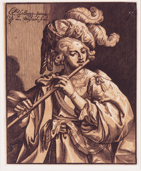 The Flute Player, 1630 Chiaroscuro woodcut Smart Museum of Art, University of Chicago; University Transfer from Max Epstein Archive, purchased 1952 1967.116.99