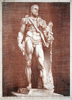 Hendrick Goltzius (after the antique) Dutch, 1558–1617 Emperor Commodus as Hercules Plate c. 1591 (this impression likely 18th century) Engraving Smart Museum of Art, University of Chicago; Purchase, Paul and Miriam Kirkley Fund for Acquisitions 2003.65