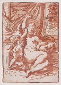 Venus and Cupid with a Bow, 1731 Chiaroscuro woodcut, proof before fourth block Smart Museum of Art, University of Chicago; University Transfer from Max Epstein Archive 1976.145.201