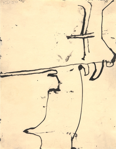 Untitled (Albuquerque), 1950 Ink on paper, 11 x 8 1/2 in. Private Collection