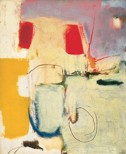 Untitled, 1950 Oil on canvas, 23 1/2 x 19 1/2 in. Jonson Gallery Collection, University Art Museum, University of New Mexico, Albuquerque Bequest of Raymond Jonson
