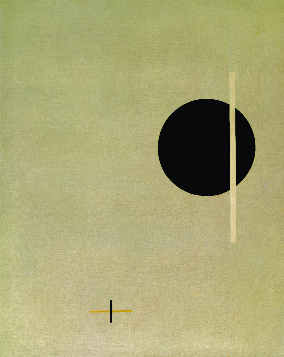 László Moholy-Nagy, QXXI​, 1923. Oil on canvas, 37 x 30 in. Gift of Silvia Pizitz, 1966