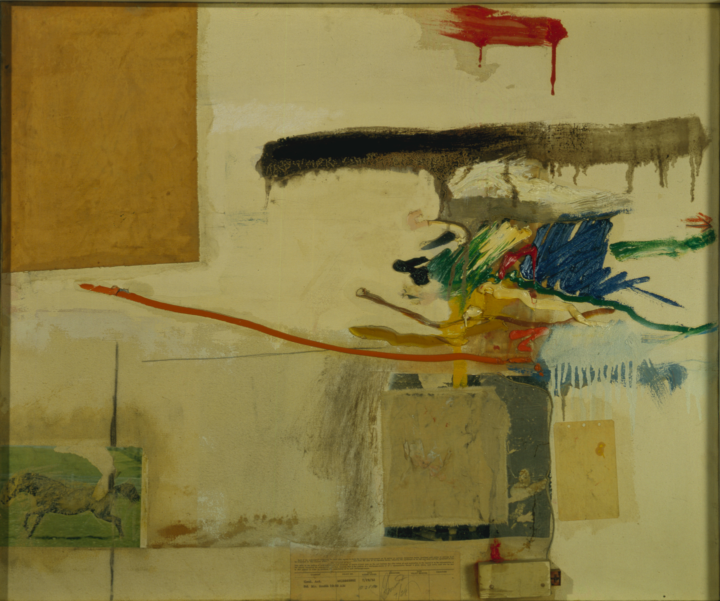 Image for Untitled (formerly titled Collage with Horse), 1957