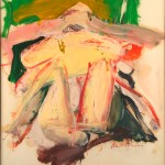 Woman with a Green and Beige Background, 1966